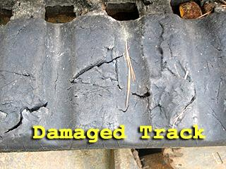 Damaged Rubber Track